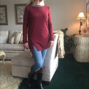 Burgundy Fall Knitted Sweater